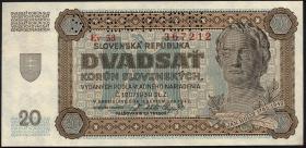 Slowakei / Slovakia P.07s 20 Korun 1942 Specimen (2)