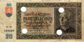 Slowakei / Slovakia P.05s 20 Korun 1939 Specimen (4)