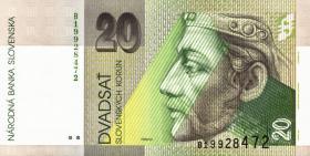 Slowakei / Slovakia P.20a 20 Kronen 1993 (1)