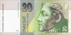 Slowakei / Slovakia P.20b 20 Kronen 1995 (1)
