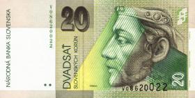 Slowakei / Slovakia P.20g 20 Kronen 2006 (1)