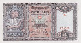 Slowakei / Slovakia P.09s 50 Korun 1940 Specimen (1)