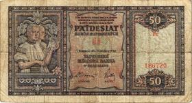 Slowakei / Slovakia P.09a 50 Kronen 1940 (4)