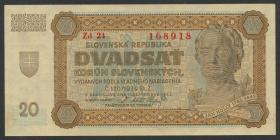 Slowakei / Slovakia P.07a 20 Korun 1942 (1-)