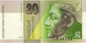 Slowakei / Slovakia P.20e 20 Kronen 2001 (1)