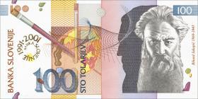 "Slowenien / Slovenia P.25 100 Tolarjew 2001 ""Jubiläum"" (1)"