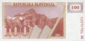 Slowenien / Slovenia P.06a 100 Tolarjew 1990 (1)