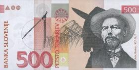 Slowenien / Slovenia P.16a 500 Tolarjew 1992 (1)