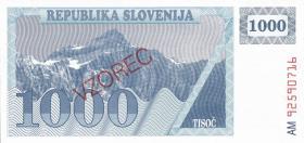 Slowenien / Slovenia P.01-09 1-1000 Tolarjew 1990-92 Muster(1)