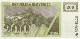 Slowenien / Slovenia P.07a 200 Tolarjew 1990 (1)