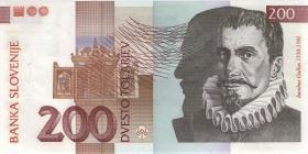 Slowenien / Slovenia P.15d 200 Tolarjew 2004 (1)