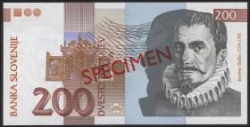 Slowenien / Slovenia P.15s 200 Tolarjew 2001 (1) Specimen