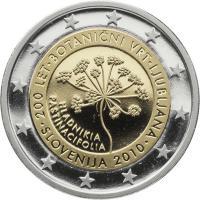 Slowenien 2 Euro 2010 Botanischer Garten PP