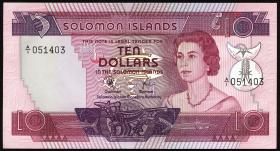 Solomon Inseln / Solomon Islands P.07a 10 Dollars (1977) (1)