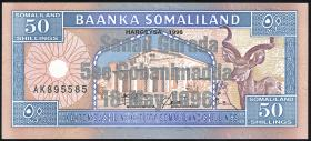 "Somaliland P.17A 50 Shillings 1996 ""Silber""-Gedenkausgabe (1)"