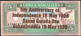 Somaliland P.08 5 Shillings 1996 Gedenkausgabe (1)