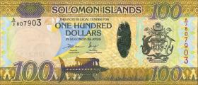 Solomon Inseln / Solomon Islands P.neu 100 Dollars (2015) Hybrid (1)