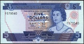 Solomon Inseln / Solomon Islands P.06b 5 Dollars (1977) (1)