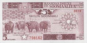 Somalia P.31c 5 Shillings 1987 (1)