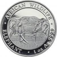 Somali Rep. Silber-Unze 2020 Elefant
