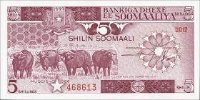 Somalia P.31b 5 Shillings 1986 (1)