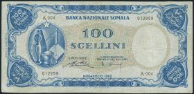 Somalia P.04 100 Scellini 1962 (3-)