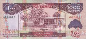 Somaliland P.20 1000 Shillings 2011 (1)