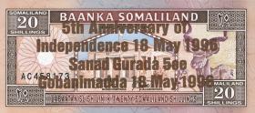 Somaliland P.10 20 Shillings 1996 Gedenkausgabe (1)