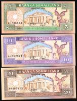 Somaliland P.01-03 5 - 20 Shillings 1994 (1)