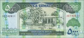 Somaliland P.21 5000 Shillings 2011 (1)