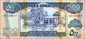 Somaliland P.06b 500 Shillings 1996 (1)