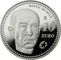 Spanien 10 Euro 2014 M. de Falla
