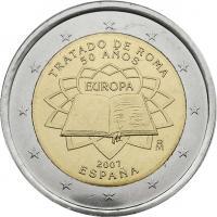 Spanien 2 Euro 2007 Römische Verträge