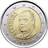Spanien 2 Euro 2008 Kursmünze