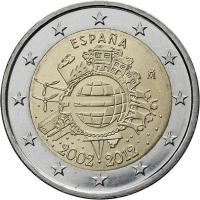 Spanien 2 Euro 2012 Euro-Bargeld
