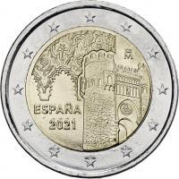Spanien 2 Euro 2021 Altstadt von Toledo