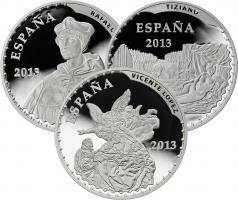 """Spanien 3 x 10 Euro 2013 """"Schätze der spanischen Museen"""" PP"""