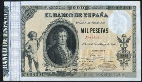 Spanien / Spain P.045 1000 Pesetas 1895 (3+)
