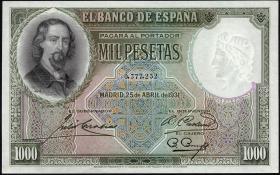 Spanien / Spain P.084A 1000 Pesetas 1931 (1)