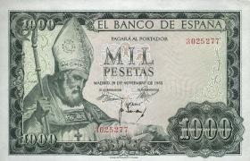 Spanien / Spain P.151 1000 Pesetas 1965 (1971) (1)