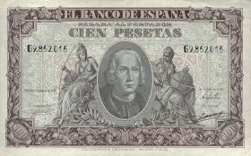 Spanien / Spain P.118 100 Pesetas 1940 (3+)