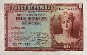 Spanien / Spain P.086 10 Pesetas 1935 (1)