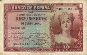 Spanien / Spain P.086 10 Pesetas 1935 (3)