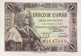 Spanien / Spain P.128 1 Peseta 1945 (1)