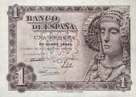 Spanien / Spain P.135 1 Peseta 1948 (1)