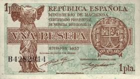 Spanien / Spain P.094 1 Pesetas 1937 (1)