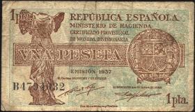 Spanien / Spain P.094 1 Pesetas 1937 (4)
