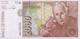 Spanien / Spain P.164 2000 Pesetas 1992 (1)