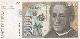 Spanien / Spain P.165 5000 Pesetas 1992 (1)