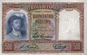 Spanien / Spain P.084 500 Pesetas 1931 (1)